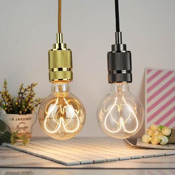 E27 4W G95 Dimmable Clear Gold blanco cálido con forma de corazón Edison luz LED Bulbo AC110-130V AC220-240V