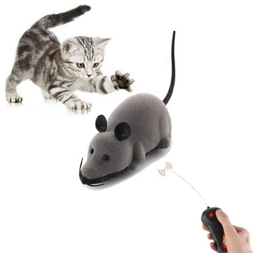 Creative Pet Toys Electronic Remote Control Mouse Pet Cat Dog Toy Lifelike Funny Flocking Rat Toy