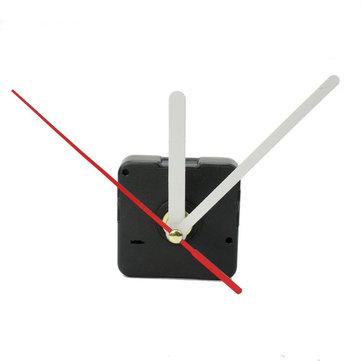 White & Red Hands DIY Quartz Black Wall Clock Movement Repair Parts