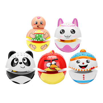 Christmas Cute Luminous Tumbler Doll Projection With Music Baby Toys For Kids Children Gift