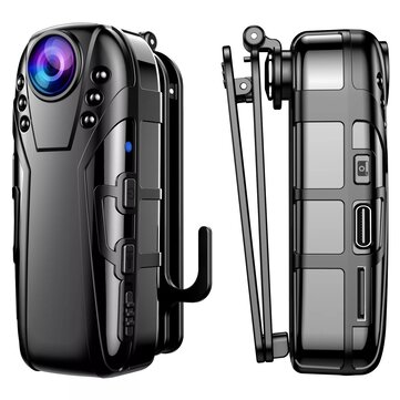 L02 Infrared Night Vision Camcorder HD 1080P Camera Video DV 125 Degrees Wide_angle with Clip for Dash Cam Recording Conference