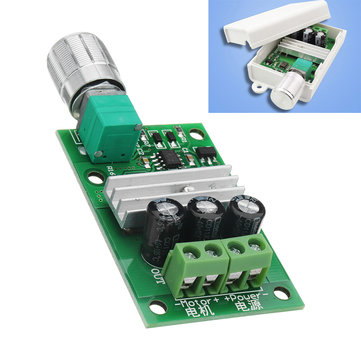 1206B 3A PWM DC Motor Speed Controller 6V/12V/24V Speed Regulating Switch Electronic Governor Dimmer With Shell