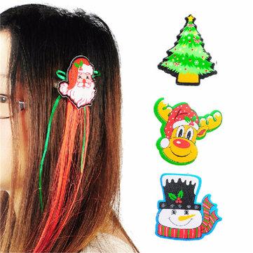 Söt Jul Jul Xmas Hair Clip Party Tillbehör Dekoration 4 Stilar