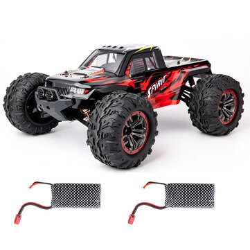 XLF X04 1 or 10 2.4G 4WD Brushless RC Car High Speed 60km or h Vehicle Models Toys Two Battery
