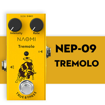 Buy NAOMI Guitar Effect Pedal DC 9V Adapter #NEP-09 Intensity And Rate Knobs Yellow Effect Pedal with 10 on Gipsybee.com