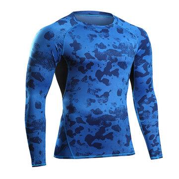 छद्म स्वास्थ्य जॉगिंग टी शर्ट प्रशिक्षण सूट लोचदार संपीड़न गति सूखी लंबी आस्तीन चड्डी