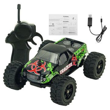 9115M 1/32 2.4G 2WD 4CH Mini High Speed Radio RC Racing Car Rock Crawler Off-Road Truck Toys