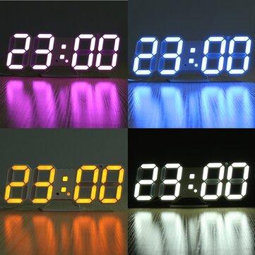 3D LED Cyfrowy zegar ścienny Budzik Zegar stereo USB Wbudowany automatyczny czujnik światła Funkcja wyświetlania temperatury w czasie Data