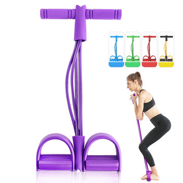 Buy 4 Resistance Elastic Pull Ropes Rower Belly Resistance Band Home Gym Sport Training Elastic Bands For Fitness Body Shaping with 4 on Gipsybee.com