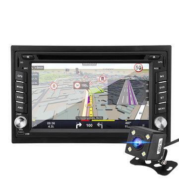 6.2 Inch 8G 1080P Wince System bluetooth Double 2 Din CD DVD Radio GPS SAT NAV Rear Camera Car MP5 Player