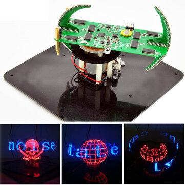Geekcreit® DIY Biaxial Spherical Rotating LED Flash Kit Creative POV Soldering Training Kit