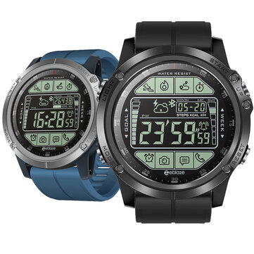 Zeblaze VIBE 3S Absolute Toughness Real-time Weather Display Goals Setting Message Reminder 1.24inch FSTN Full View Outdoor Display Sport Smart Watch