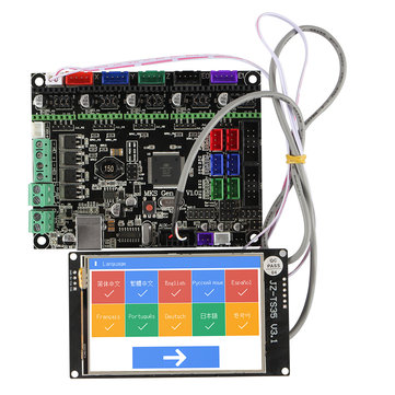 MKS GEN L Motherboard with 3.5 Inch LCD WIFI Touch Screen Kit for 3D Printer