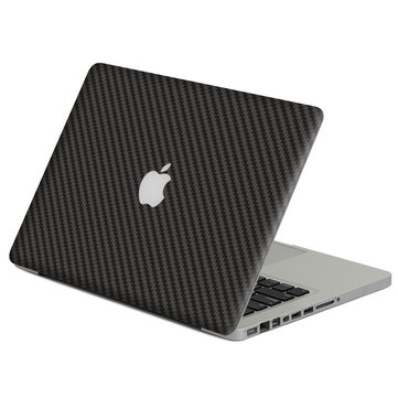 For Macbook Pro Retina 13-tommers karbongrå serie Full Body A + D Begge sidene huddekselfilmklistremerke