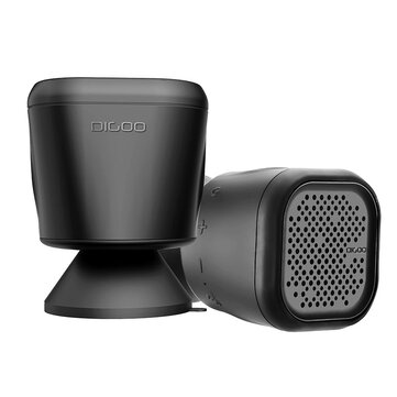 Digoo DG-MX10 Waterproof Wireless TWS Bluetooth Speaker for Home Bathroom Outdoor Party Beach with 3W Enhanced Bass Bulit-in Mic Sunction Cup