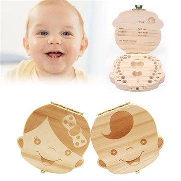 बेबी मिल्क दांत लकड़ी का भंडारण मामला लड़कियों के लड़कों के लिए बॉक्स हेयर धारक आयोजक बचाओ नया दा