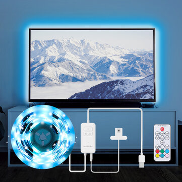 BlitzWolf BW LT32 2M USB RGB TV Strip Light Kit Sync with TV Screen Color 3 Sides Cover for TV Vivid RGB Color Lighting Effect and Dual Simple Control