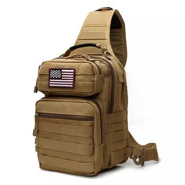 キャンプ、ハイキング、トレッキングのための7L屋外戦術スリングバッグ軍事スポーツデイパックのバックパック
