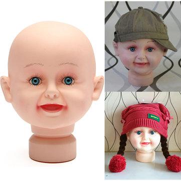 Children Kid Mannequins Manikin Head Model Stand For Hats Wig Display