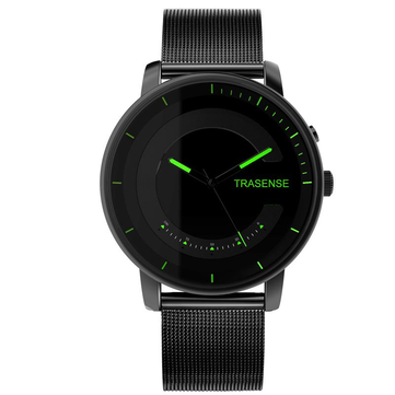 TRASENSE H03-N Luminous Hand Smart Quartz Watch Milanese Stainless Steel Strap 30 Days Standby Call Reminder Smart Watch