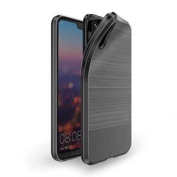 DUX DUCIS trafilatura Struttura Metal Piatto Soft Custodia protettiva in TPU per Huawei P20