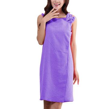 Honana BX-959 Women Sling Soft Absorbs Bath Cozy Lovely Spas Wearable Bathrobe Beach Towel Skirt