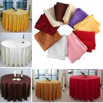 Khăn trải bàn tròn thấm 200cm Polyester cho nhà hàng khách sạn Trang trí tiệc cưới