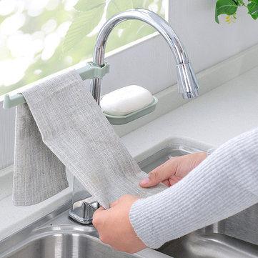 Sink Pendant Storage Sponge Holder Faucet Clip Dish Rack Drain Shelf Towel Dry Organizer