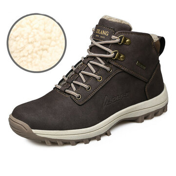 Scarpe da Ginnastica da Uomo per Inverno Moda Outdoor Sneaker con Fodera Super Calda Antiscivolo per Arrampicata Stivali da Neve