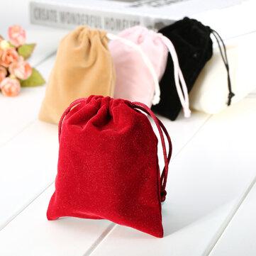 1 túi nhung dây rút trang sức Giáng sinh sinh nhật Quà tặng đám cưới túi