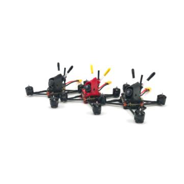 FUS Spartan V3 99mm Wheelbase F411 F4 Flight Controller AIO 20A ESC 2-4S Freestyle FPV Racing Drone PNP w/200mW VTX Runcam Nano 2 FPV Camera - Black