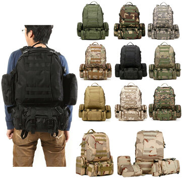 50L 600D Military Nylon Outdoor Sports Rucksack Backpack Camping Hiking Camouflage Shoulder Bag Pack  CP Camouflage Coupon Code and price! - $40