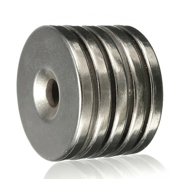 5pcs N35 25x3mm Countersunk Ring Magnets 5mm Hole Rare Earth Neodymium Magnet