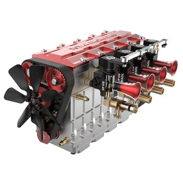 TOYAN FS-L400 14cc Inline 4 Cylinder Four-stroke Water-cooled Nitro Engine Model for 1/8 1/10 RC Car Ship Airplane