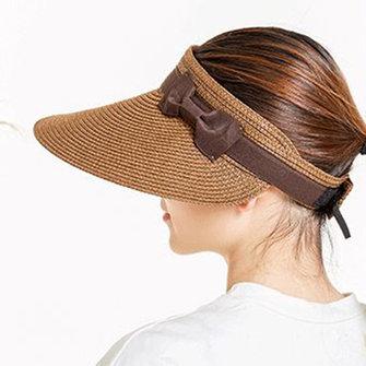 Phụ nữ mùa hè rộng vành mũ lưỡi trai có thể tháo rời Mũ che nắng ngoài trời Mũ rơm ngoài trời