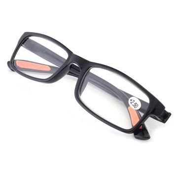 KCASA TR90ポータブル丈夫な軽量樹脂ブラック老眼鏡非常に柔軟