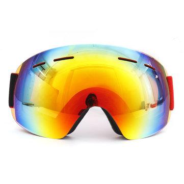 स्नोबोर्ड स्कीइंग गॉगल्स डबल लेंस एंटी फॉग UV400 मोटरसाइकिल यूनिसेक्स वयस्क खेल चश्मा