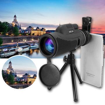 40x60 Monocular Ultra HD Optical Lens Low Light Night Vision Telescope + Clip + Tripod For Phone