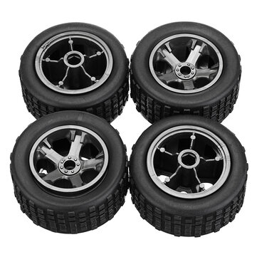 4PCS KYAMRC 2811 Original Tires Wheels Rims 1/20 RC Car DIY Models Vehicles Parts