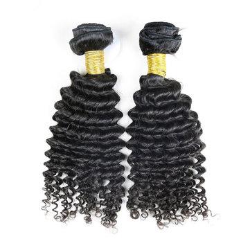 6A Grade Brazilian Virgin Unprocessed Deep Keriting 100% Real Human Hair Extension