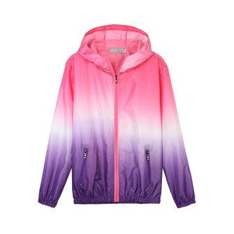 Casual Women Hooded Gradient Sport Sun Protection Coat
