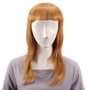 Lungo rettilineo pieno botto parrucca capelli umani parrucche vergini remy top mono senza cappuccio