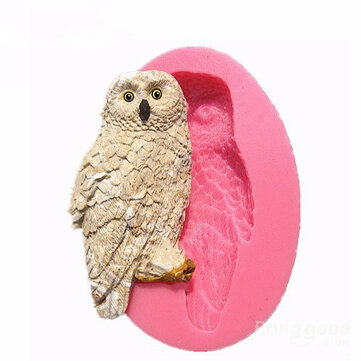 Cute Owl Silicone Fondant Cake Mold Chocolate Polymer Clay Mould