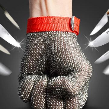 An toàn Cắt Bằng chứng Chống đâm Thép không gỉ Kim loại Lưới Đồ tể Găng tay Kích thước M