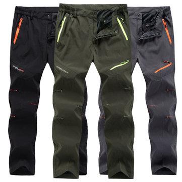 निविड़ अंधकार लंबी पैदल यात्रा सीधे पैर खेल पैंट पुरुषों आउटडोर त्वरित सुखाने जिपर जेब पतलून