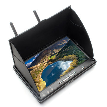 Eachine LCD5802S 5802 40CH Raceband 5.8G 7 Inch Diversity Receiver Monitor with Build-in Battery