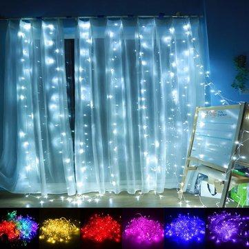 1m 4m 144led Outdoor Christmas Xmas Wedding Party Fairy String Curtain Hanging Window Light Eu Plug