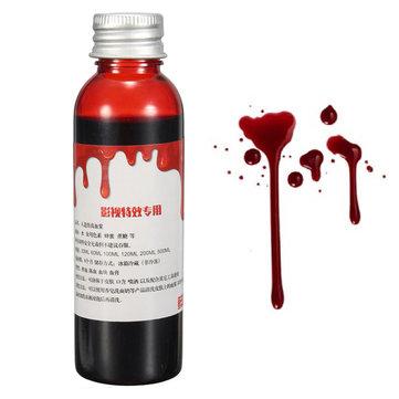 Blood Effect Makeup Liquid Halloween Prop Stage Prank Theatrical Vampire Cosplay Cosmetics
