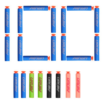$2.52 for URUAV 100PCS Refill Bullets Dart Part For Nerf N-strike Elite Rampage Retaliator Suction Cup Head Toy