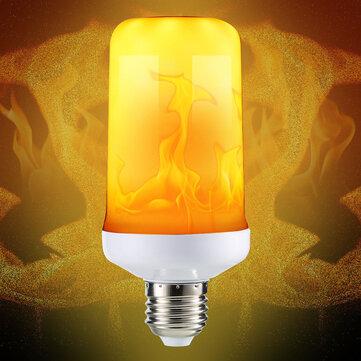 E27 4 Modes SMD2835 LED Flame Effect Flickering Emulation Fire Light Bulb Decoration Lamp AC85-265V